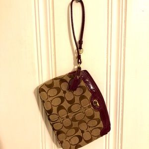 Coach Wristlet - Brown & Purple